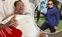 آرنولد شوارتزنگر ۷۳ ساله و حال خوب جسمانی چند روز پس از آخرین جراحی قلب