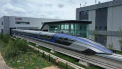سریع ترین قطار گلوله ای جهان با سرعت ۶۰۰ کیلومتر بر ساعت در چین رونمایی شد