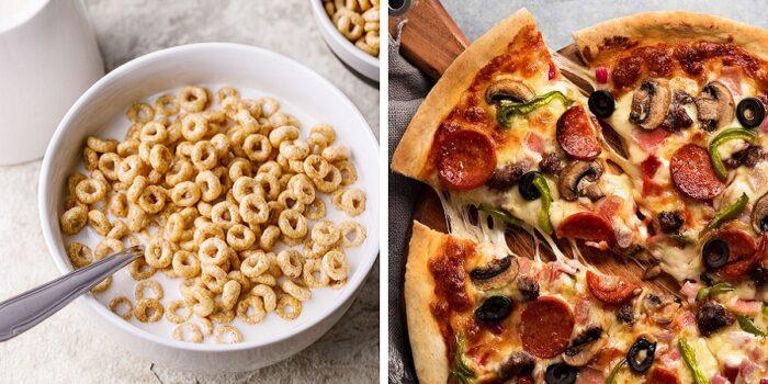 پیتزا صبحانه سالم تری است تا غلات صبحانه!