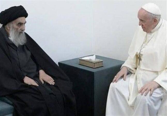 مواضع حکیمانه آیتالله سیستانی در دیدار پاپ مایه عزت اسلام شد