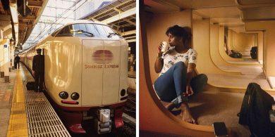 نگاهی به قطارهای ویژه ژاپنی که خوابگاههای مخصوص و حمام دارند