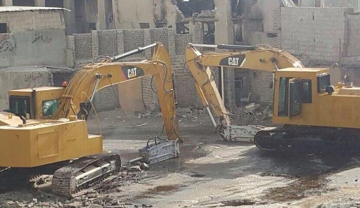 تخریب مسجد شیخ نمر در قطیف