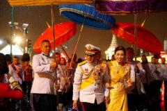 تصاویر بازگشت پادشاه عیاش تایلند و حرمسرایش از آلمان