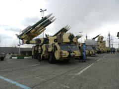 انتقال ادوات نظامی ایران به مرز افغانستان/فیلم