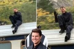 بدلکاری تام کروز روی سقف قطار در حال حرکت در «ماموریت غیرممکن ۷» + ویدیو