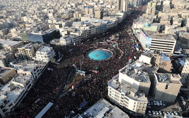 حضور ۲۵ میلیون نفر در مراسم تشییع «حاج قاسم»