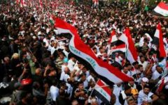 تظاهرات میلیونی عراقیها در بغداد در محکومیت اشغالگری نظامی آمریکا