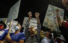 تظاهرات در تلآویو در اعتراض به نتانیاهو
