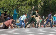 فیلم تازه منتشر شده از حمله تروریستی به رژه نیروهای مسلح در اهواز (۱۸+)