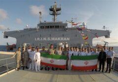 قدردانی فرمانده کل قوا از ناوگروه ۷۵ نیروی دریایی